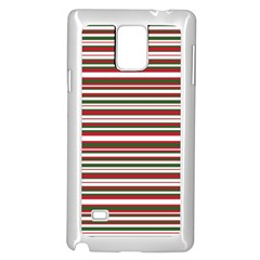 Christmas Stripes Pattern Samsung Galaxy Note 4 Case (white) by patternstudio