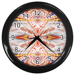 Heart   Reflection   Energy Wall Clocks (black) by Cveti