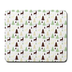 Reindeer Tree Forest Large Mousepads by patternstudio
