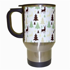 Reindeer Tree Forest Travel Mugs (white) by patternstudio