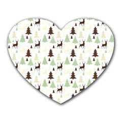 Reindeer Tree Forest Heart Mousepads by patternstudio
