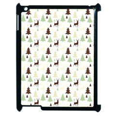 Reindeer Tree Forest Apple Ipad 2 Case (black) by patternstudio