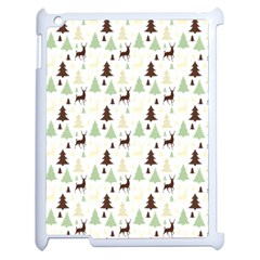 Reindeer Tree Forest Apple Ipad 2 Case (white) by patternstudio