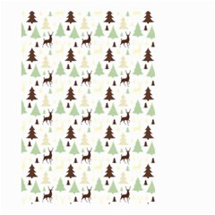 Reindeer Tree Forest Small Garden Flag (two Sides) by patternstudio