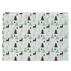 Reindeer Tree Forest Cosmetic Bag (xxl)  by patternstudio