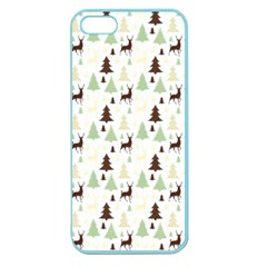Reindeer Tree Forest Apple Seamless Iphone 5 Case (color) by patternstudio
