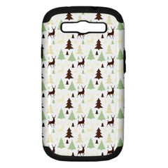 Reindeer Tree Forest Samsung Galaxy S Iii Hardshell Case (pc+silicone) by patternstudio
