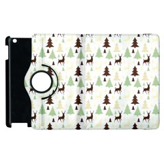 Reindeer Tree Forest Apple Ipad 2 Flip 360 Case by patternstudio