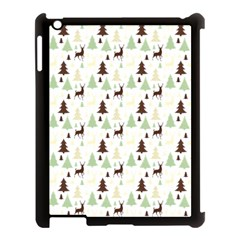 Reindeer Tree Forest Apple Ipad 3/4 Case (black) by patternstudio