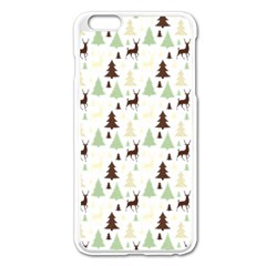 Reindeer Tree Forest Apple Iphone 6 Plus/6s Plus Enamel White Case by patternstudio