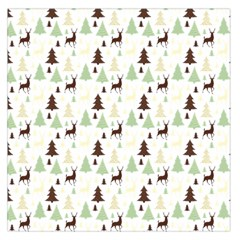 Reindeer Tree Forest Large Satin Scarf (square) by patternstudio