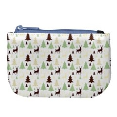 Reindeer Tree Forest Large Coin Purse by patternstudio