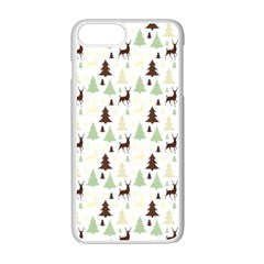 Reindeer Tree Forest Apple Iphone 7 Plus Seamless Case (white) by patternstudio