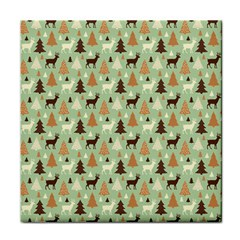 Reindeer Tree Forest Art Tile Coasters by patternstudio