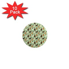 Reindeer Tree Forest Art 1  Mini Magnet (10 Pack)  by patternstudio