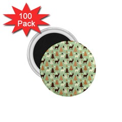 Reindeer Tree Forest Art 1 75  Magnets (100 Pack)  by patternstudio