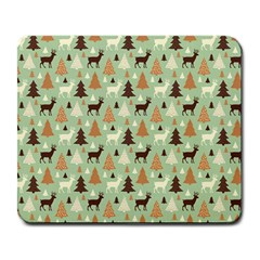 Reindeer Tree Forest Art Large Mousepads by patternstudio