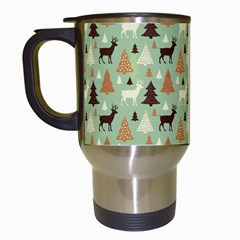 Reindeer Tree Forest Art Travel Mugs (white) by patternstudio