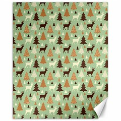 Reindeer Tree Forest Art Canvas 16  X 20   by patternstudio