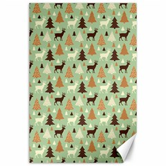 Reindeer Tree Forest Art Canvas 24  X 36  by patternstudio
