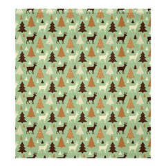 Reindeer Tree Forest Art Shower Curtain 66  X 72  (large)  by patternstudio