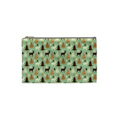 Reindeer Tree Forest Art Cosmetic Bag (small)  by patternstudio