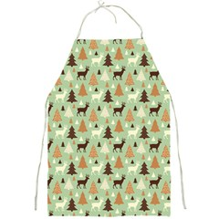Reindeer Tree Forest Art Full Print Aprons by patternstudio