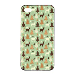 Reindeer Tree Forest Art Apple Iphone 4/4s Seamless Case (black) by patternstudio