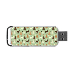 Reindeer Tree Forest Art Portable Usb Flash (two Sides) by patternstudio