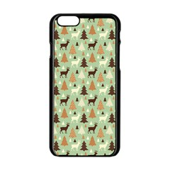 Reindeer Tree Forest Art Apple Iphone 6/6s Black Enamel Case by patternstudio