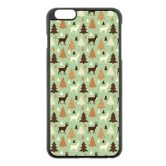 Reindeer Tree Forest Art Apple Iphone 6 Plus/6s Plus Black Enamel Case by patternstudio