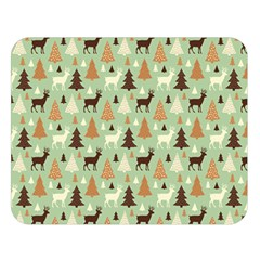 Reindeer Tree Forest Art Double Sided Flano Blanket (large)  by patternstudio