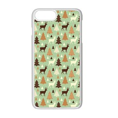 Reindeer Tree Forest Art Apple Iphone 8 Plus Seamless Case (white)