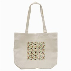 Reindeer Christmas Tree Jungle Art Tote Bag (cream) by patternstudio