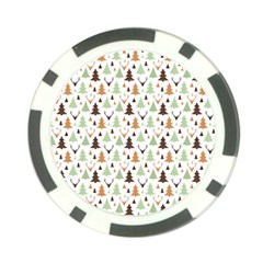 Reindeer Christmas Tree Jungle Art Poker Chip Card Guard by patternstudio