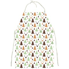 Reindeer Christmas Tree Jungle Art Full Print Aprons by patternstudio