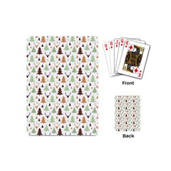Reindeer Christmas Tree Jungle Art Playing Cards (mini)  by patternstudio