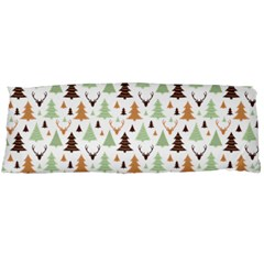 Reindeer Christmas Tree Jungle Art Body Pillow Case (dakimakura) by patternstudio