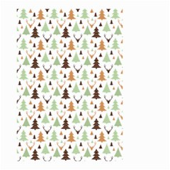 Reindeer Christmas Tree Jungle Art Small Garden Flag (two Sides) by patternstudio