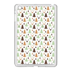 Reindeer Christmas Tree Jungle Art Apple Ipad Mini Case (white) by patternstudio