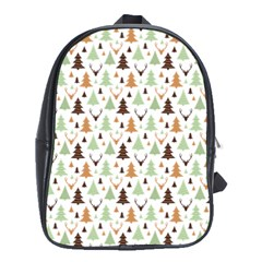 Reindeer Christmas Tree Jungle Art School Bag (xl) by patternstudio