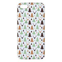 Reindeer Christmas Tree Jungle Art Apple Iphone 5 Premium Hardshell Case by patternstudio