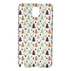 Reindeer Christmas Tree Jungle Art Samsung Galaxy Note 3 N9005 Hardshell Case by patternstudio