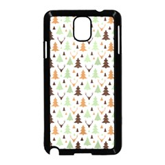 Reindeer Christmas Tree Jungle Art Samsung Galaxy Note 3 Neo Hardshell Case (black) by patternstudio