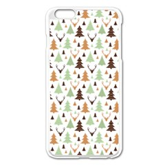Reindeer Christmas Tree Jungle Art Apple Iphone 6 Plus/6s Plus Enamel White Case by patternstudio
