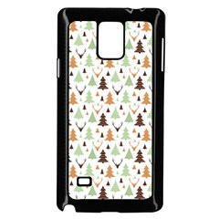 Reindeer Christmas Tree Jungle Art Samsung Galaxy Note 4 Case (black) by patternstudio