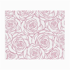 Pink Peonies Small Glasses Cloth (2 Side) by 8fugoso