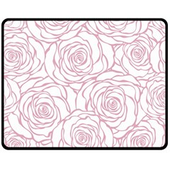Pink Peonies Fleece Blanket (medium)  by 8fugoso