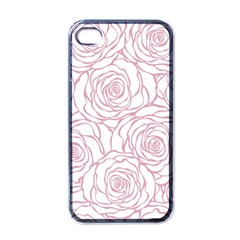 Pink Peonies Apple Iphone 4 Case (black) by 8fugoso