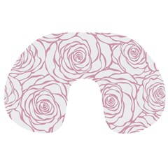 Pink Peonies Travel Neck Pillows by 8fugoso